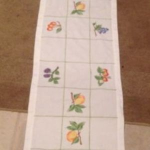 Lovely Table Runner Embroidered_Stitched Fruit
